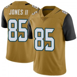 Nike Charles Jones II Jacksonville Jaguars Men's Limited Gold Color Rush Vapor Untouchable Jersey