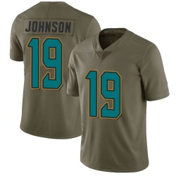 Nike Collin Johnson Jacksonville Jaguars Youth Limited Green 2017 Salute to Service Jersey